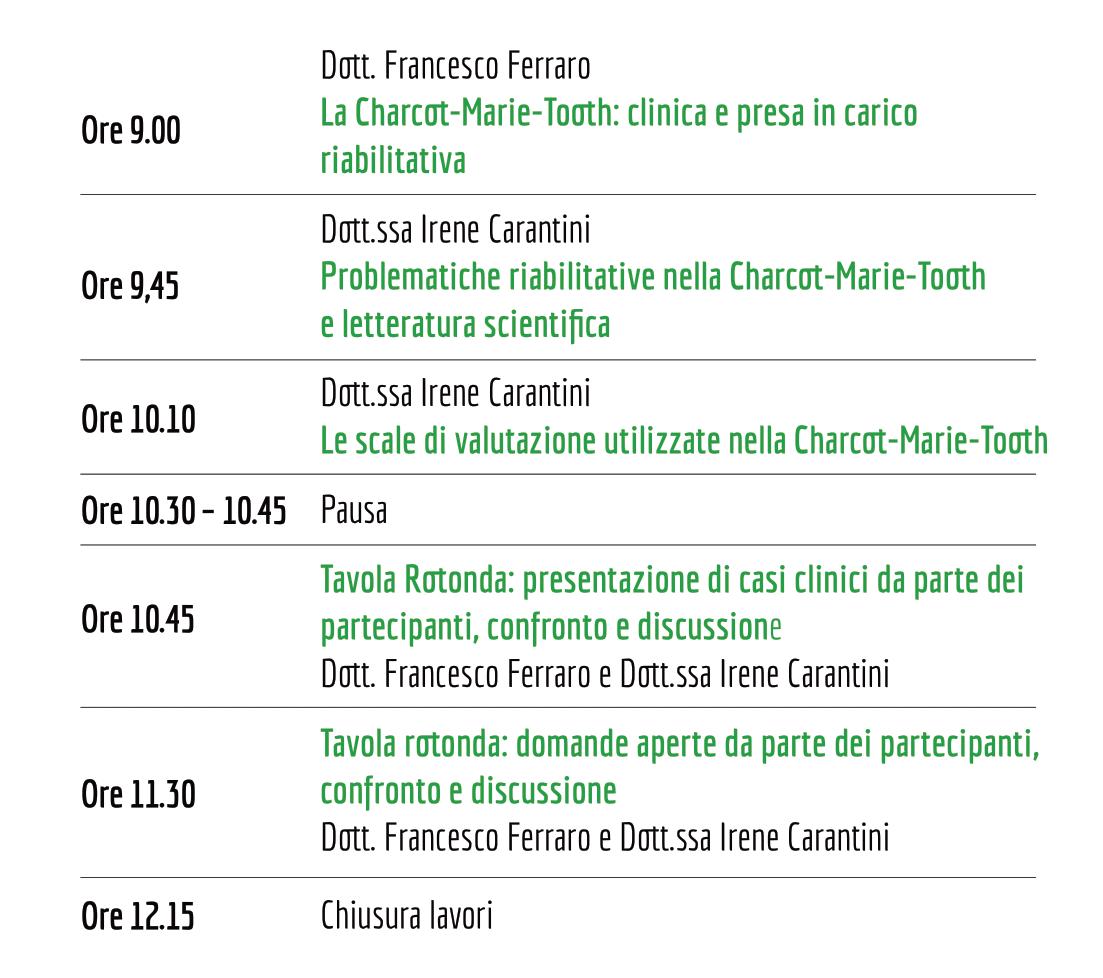 Il programma del Corso Online 2021 sulla riabilitazione nella Charcot-Marie-Tooth
