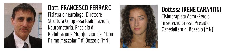 Francesco Ferraro e Irene Carantini Relatori del Corso 2021 sulla riabilitazione nella Charcot-Marie-Tooth