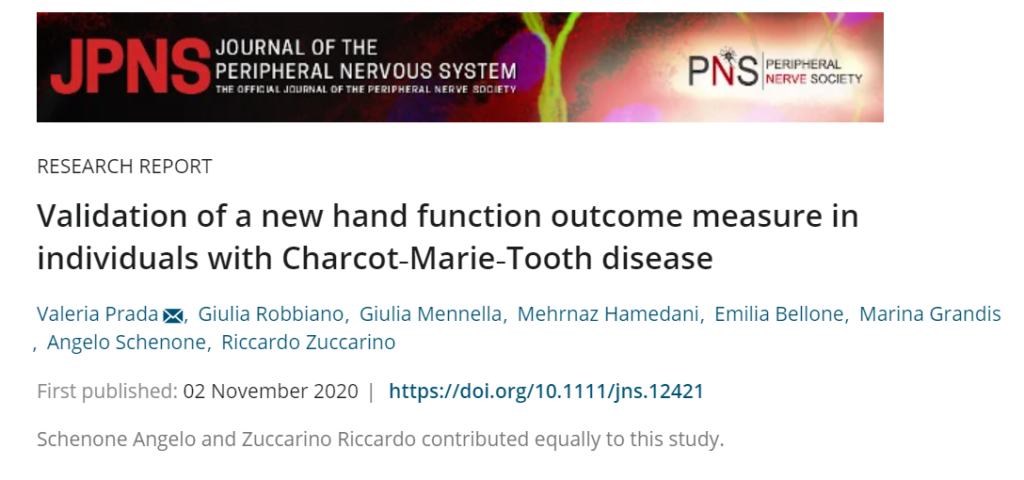 Validation of a new hand function Outcome measure in individuals with Charcot-Marie-Tooth HTS Hand Test System